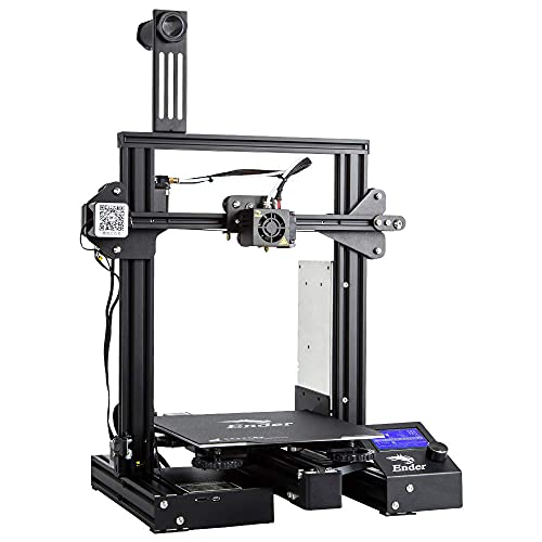 Stampante 3D ufficiale Creality Ender 3 Pro con alimentatore Meanwell e stampa di ripresa con piastra magnetica flessibile 220x220x250mm