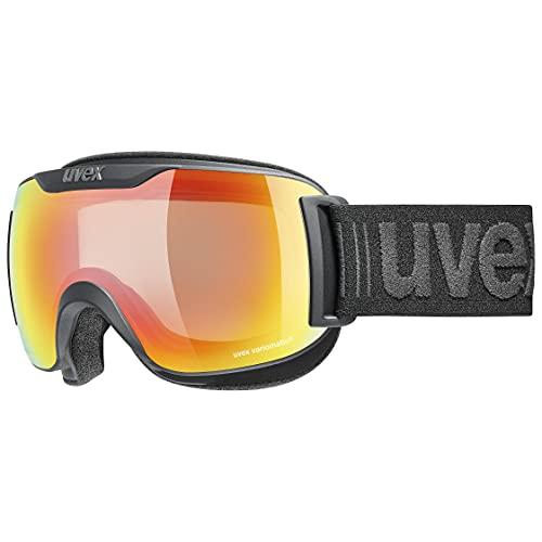 uvex downhill 2000 S V, maschera da sci Unisex adulto, black mat/rainbow-clear, one size