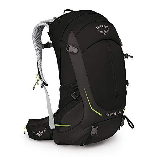 Osprey Stratos 34, Hiking Pack Uomo, Nero, M/L