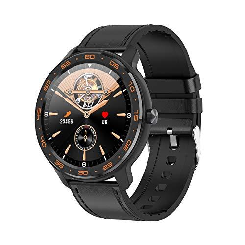 CORN Smartwatch Fitness Tracker Orologio, Smart Watch Donna Uomo Bambini Cardiofrequenzimetro da Polso Contapassi Impermeabile IP68 per Android iOS Xiaomi Samsung Huawei (Nero, B03)