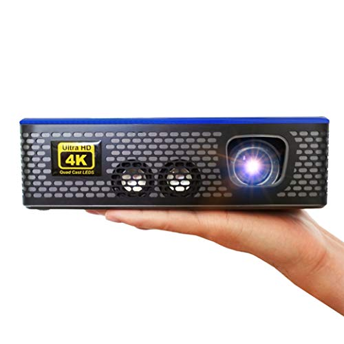 AAXA - Proiettore LED Home Theater 4K1, risoluzione nativa 4K UHD, doppio HDMI con HDCP 2.2, lettore multimediale integrato, 1500 lumen