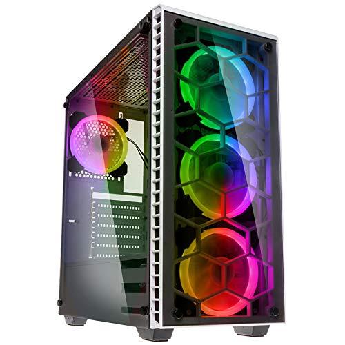 Kolink Observatory White -Case RGB Mid-Tower ATX Bianco (SECC 1mm)- per PC Gaming con Pannello Frontale e Laterale in Vetro temperato