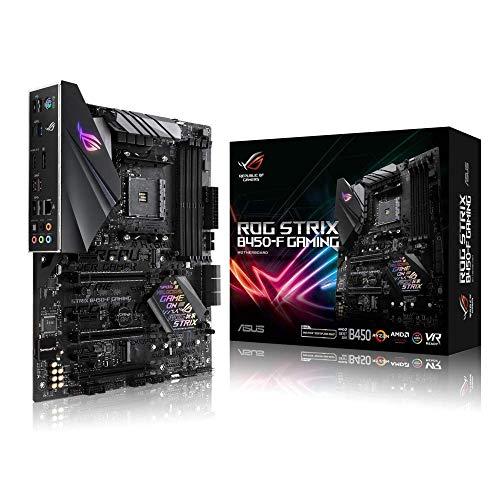 Asus ROG STRIX B450-F GAMING Scheda Madre da Gioco con Supporto DDR4 a 3200 MHz, AM4, SATA 6 Gbps, HDMI 2.0, Doppia NVMe M.2, USB 3.1, Nero