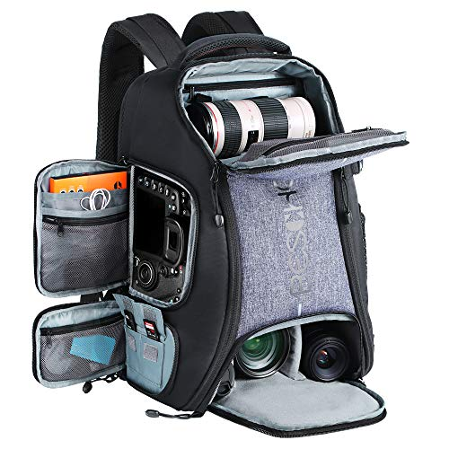 Beschoi Multifunzionale Zaino per Fotocamera Grande Zaino Fotografico Reflex Professionale Impermeabile per Laptop da 15,6 Pollici Canon Sony Nikon Treppiede Accessori Taglia XXL