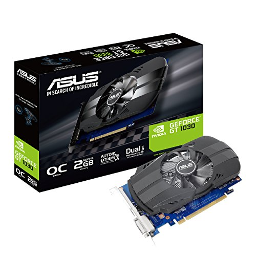 ASUS Phoenix GeForce GT 1030 OC Edition 2 GB GDDR5, Scheda Video Gaming e Multimediale per HTPC, PCI Express 3.0, Home Entertainment e Gaming HD