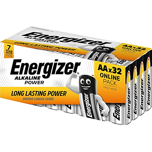 Batterie AA Energizer Alkaline Power, confezione da 32