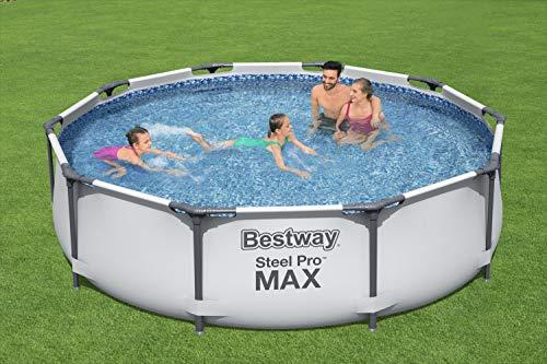 Bestway 56408 | Steel Pro MAX - Piscina Fuori Terra Rotonda, 305X76 cm, Pompa di Filtraggio Inclusa