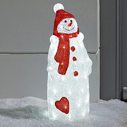 Pupazzo di neve illuminato a LED Decorazione natalizia di Lights4fun