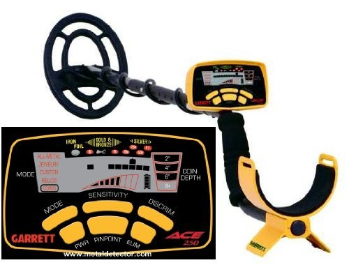 Garrett ACE 250 Metal Detector, Display LCD, Giallo/Nero