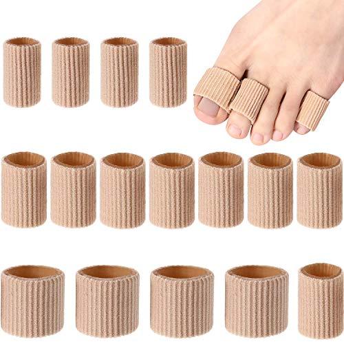 Manicotti imbottiti per dita dei piedi, in gel morbido, protezione per calli e vesciche, per dita delle mani e dei piedi