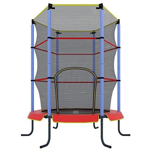 Ultrasport Trampolino indoor Jumper, da fitness e per divertirsi per bambini da 3 anni in su, si può utilizzare in sicurezza come trampolino da camera Bambini