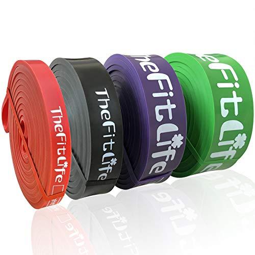 TheFitLife Elastici Fitness Bande di Resistenza- fasce elastiche fitness di assistenza al pullup, palestra in casa lo stretching del corpo, elastico fitness, borsa da trasporto e guida all'allenamento