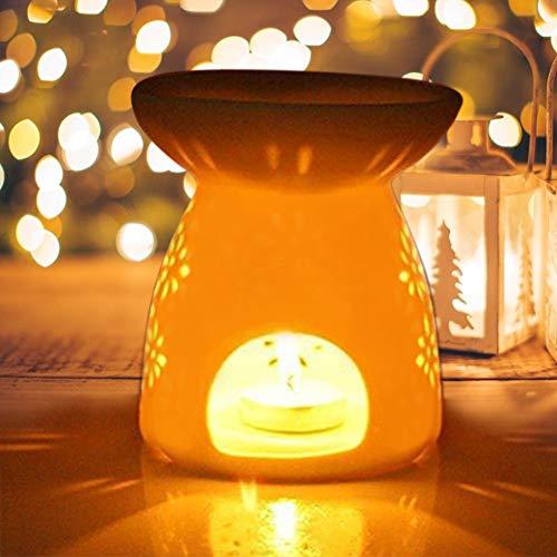 Portacandele in ceramica Lampada da notte in fragranza Essence Oil Bruciatore di incenso Aromatherapy Stove per la decorazione domestica(1#)