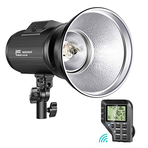 Neewer i4T EX 400W Monoluce per Canon, 2,4G TTL HSS Flash Strobo da Studio con Wireless Trigger, Lampadina di Modellizzazione, Tempi di Ricarica in 0,2-1,3s, Batteria a Litio & Attacco Bowens