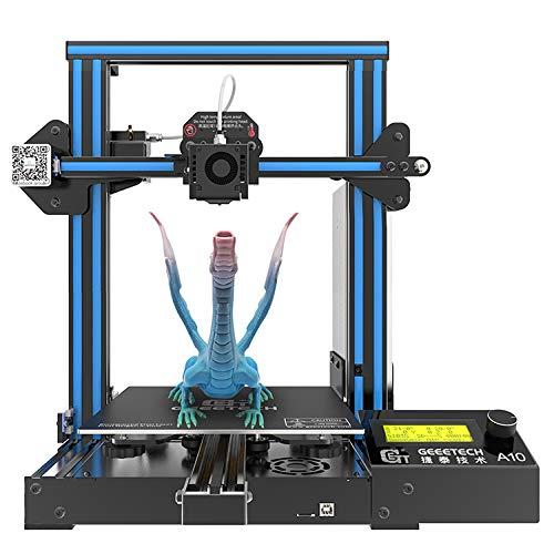 GIANTARM Geeetech stampante 3D A10 PRO, Prusa I3 Assemblaggio facile e veloce DIY Kit,Dimensione di stampa 220 * 220 * 260mm,Break-Resuming-Funzione,scheda di controllo OPEN SOURCE GT2560 V4.1