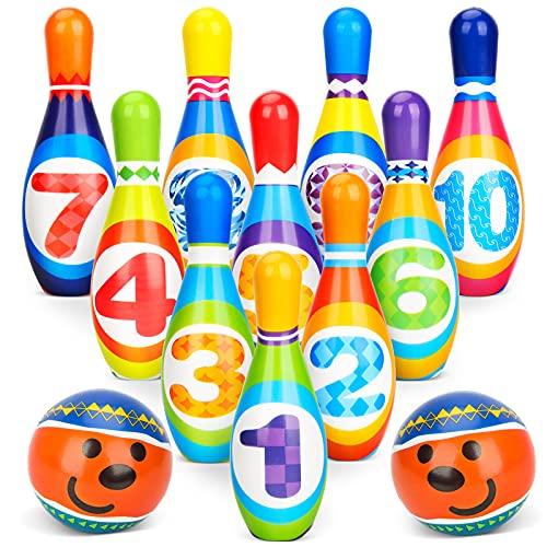 Dreamon Birilli Bowling Bambini Giochi da Esterno per Bambini 3 4 5 Anni con 10 Birilli e 2 Palle