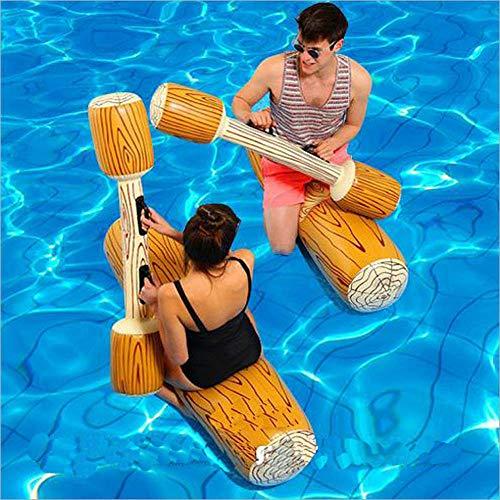 LONEEDY 2 Pz Set Giocattoli gonfiabili galleggianti a Remi, Giochi per Adulti in Piscina per Bambini Sport Acquatici Registra Le zattere per Far galleggiare i Giocattoli