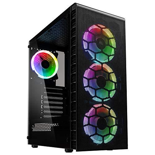 Kolink Observatory Lite Mesh -Case RGB Mid-Tower ATX- per PC Gaming - con Pannello Laterale in Vetro temperato e Frontale in Mesh