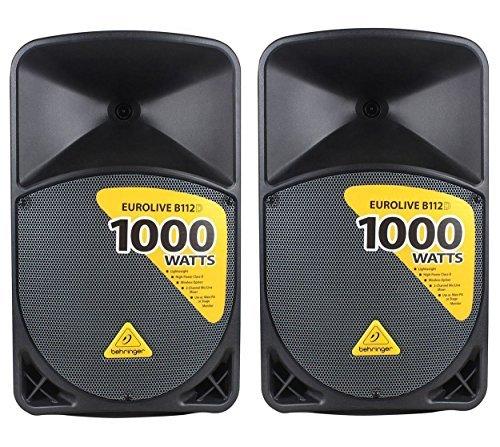 BEHRINGER EUROLIVE B112D Coppia Casse Speaker Amplificate 2 vie 1000W Wireless Ready