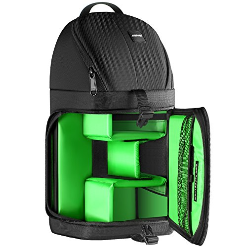 Neewer Borsa a tracolla per fotocamera professionale impermeabile antiurto e antistrappo custodia protettiva per partizioni per DSLR e fotocamere Mirrorless (interno Verde)