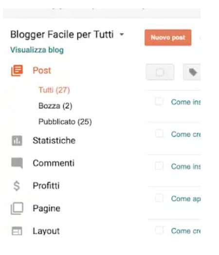 Come inserire un'immagine in un post di Blogger