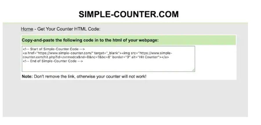 codice Simple-counter.com