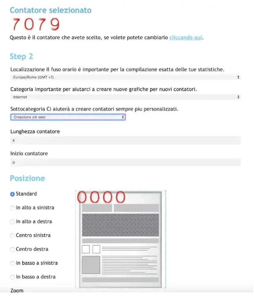 contatore di visite in Blogger