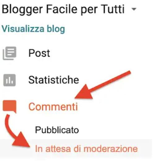 Come moderare i commenti in un blog di Blogger