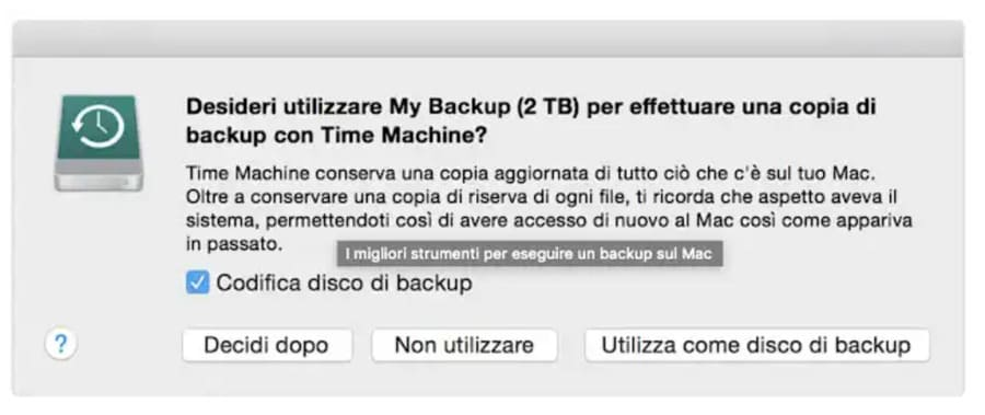 Come fare un backup del Mac