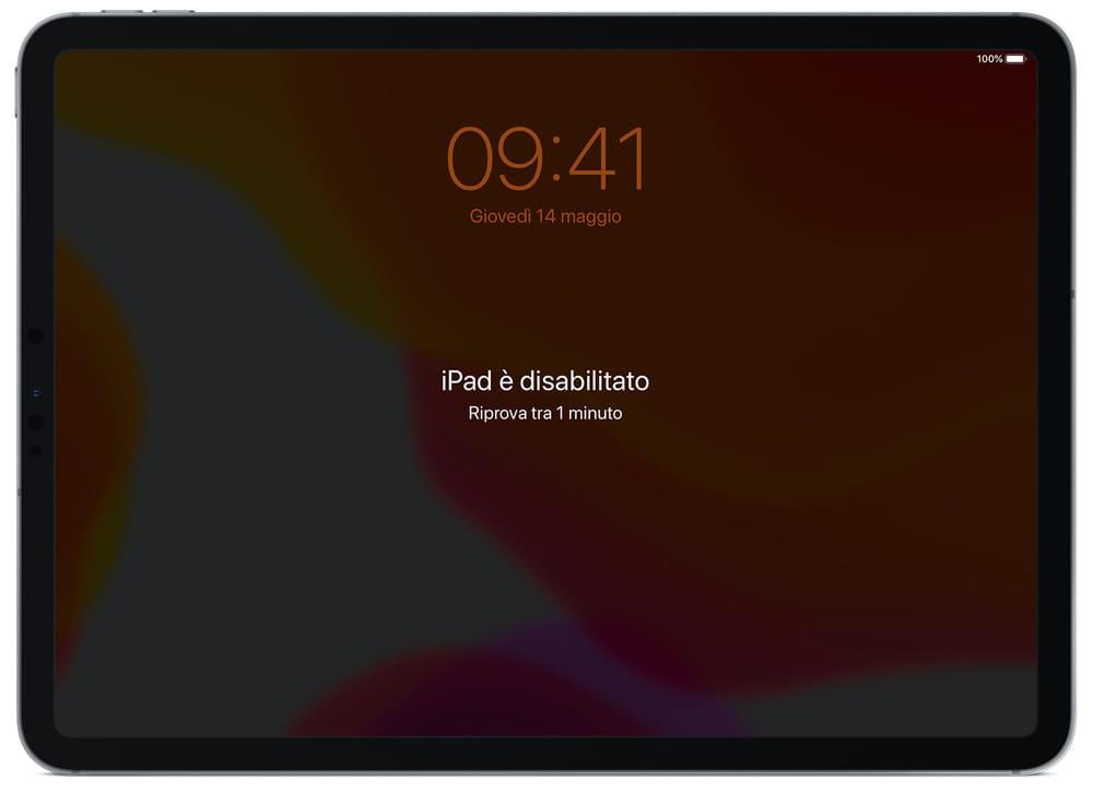 iPad è disabilitato cosa fare