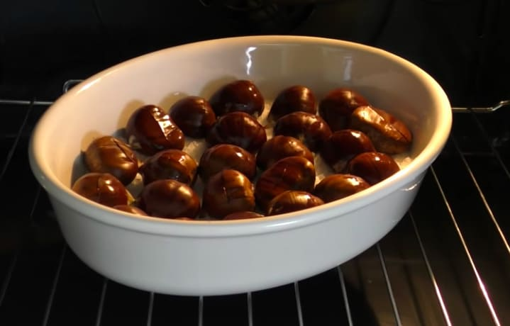 come fare le caldarroste nel forno
