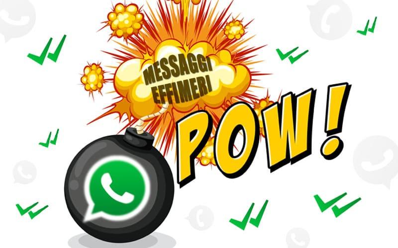 WhatsApp: impostare messaggi che si autodistruggono