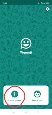 wemoji creare stickers per WhatsApp