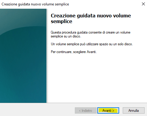 partizioni hd windows