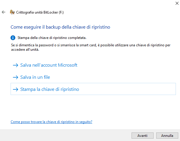 password chiavetta USB