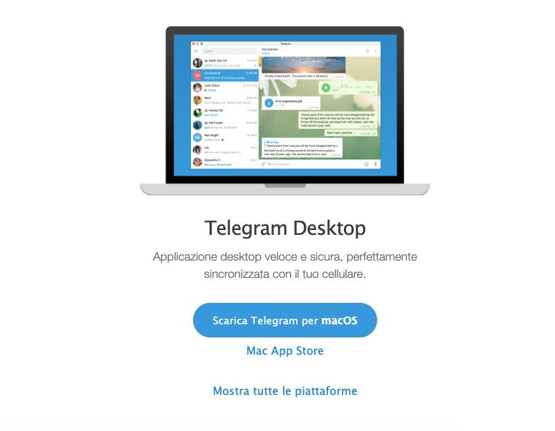 Come usare Telegram da desktop